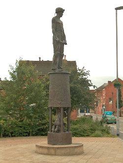 Miner's Statue, Station Road, Hucknall